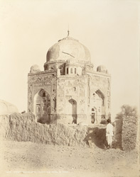 Hyderabad, Sindh. Sarafraz Khan's Tomb [sic, for Ghulam Nabi Khan's Tomb], view from south-east